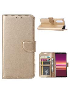 Ntech Sony Xperia 5 Portemonnee hoesje - Goud