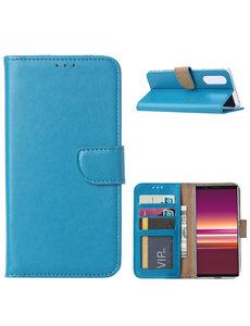 Ntech Sony Xperia 5 Portemonnee hoesje - Turquoise