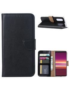 Ntech Sony Xperia 5 Portemonnee hoesje - Zwart