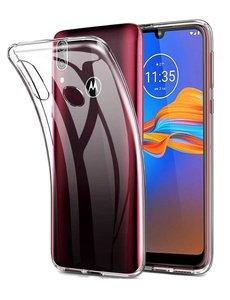 Ntech Motorola Moto E6 Plus TPU Hoesje Back Case - Transparant