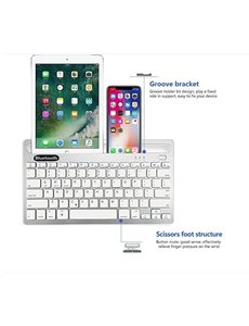 Ntech Universele Bluetooth Toetsenbord Tablet / iPad / Smartphone / PC /Laptop - Wit