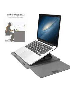 Ntech MacBook Air (2019 / 2020) 13.3 Inch Sleeve 4 piece set Spatwater proof Hoes met handvat - Grijs