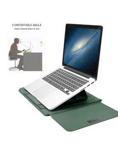 Ntech MacBook Air (2019 / 2020) 13.3 Inch Sleeve 4 piece set Spatwater proof Hoes met handvat - Groen