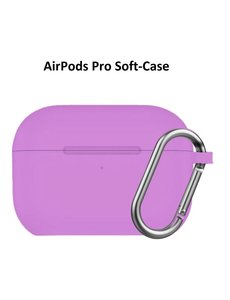 Ntech Apple AirPods Pro Soft Silicone Hoesje Met sleutelhanger - Paars