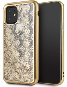 Guess iPhone 11 Backcase hoesje - Guess - Effen Goud - TPU