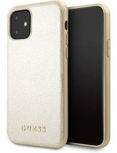 Guess iPhone 11 Backcase hoesje - Guess - Effen Goud - Kunstleer