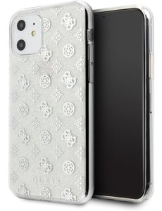 Guess iPhone 11 Backcase hoesje - Guess - Glitter Zilver - TPU
