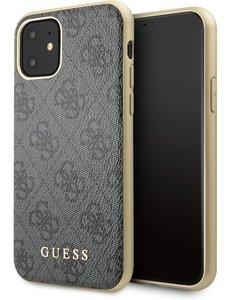 Guess iPhone 11 Backcase hoesje - Guess - Effen Grijs - Kunstleer