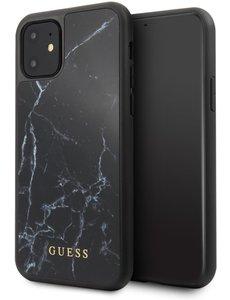 Guess GUESS Marmeren Backcover iPhone 11 - Zwart