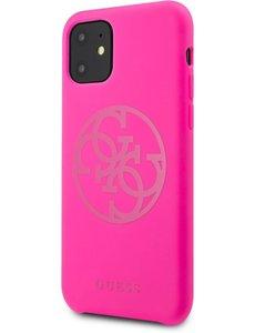 Guess Apple iPhone 11 Guess Fuschia Backcover hoesje GUHCN61LS4GFU - TPU - Silicone