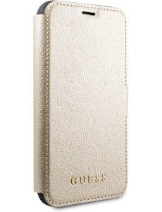Guess iPhone 11 Bookcase hoesje - Guess - Effen Goud - Kunstleer