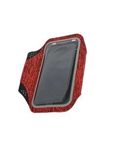 Ntech Sportarmband Samsung Galaxy S10+ / S10 / S10e Fabric/Stof - Grijs / Rood