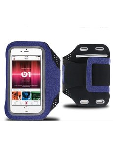 Ntech Sportarmband Apple iPhone 11 / 11 Pro / 11 Pro Max Fabric/Stof - Grijs / Blauw