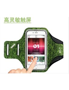 Ntech Sportarmband Apple iPhone 11 / 11 Pro / 11 Pro Max Fabric/Stof - Grijs / Groen
