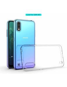 Ntech Samsung Galaxy A01 Hoesje TPU backcover - Transparant