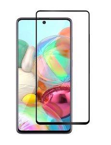 Ntech Samsung Galaxy A71 full cover Screenprotector Tempered Glass - Zwart