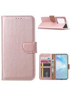 Ntech Samsung Galaxy S20 Ultra Portemonnee hoesje / Boek hoesje - Rose goud