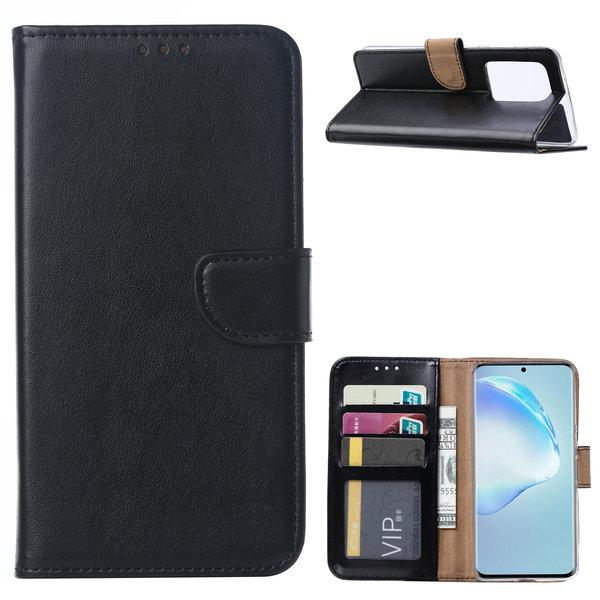 Ntech Samsung Galaxy S20 Ultra Portemonnee hoesje / Boek hoesje - Zwart