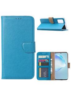 Ntech Samsung Galaxy S20 Plus Boek hoesje met Pasjeshouder - Turquoise
