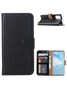 Ntech Samsung Galaxy S20 Plus Boek hoesje met Pasjeshouder - Zwart