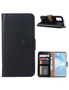 Ntech Samsung Galaxy S20 Hoesje met Pasjeshouder - Zwart