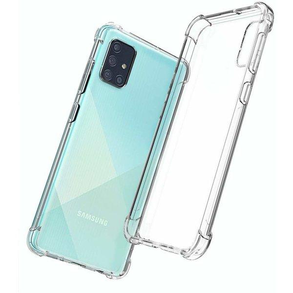 Ntech Samsung Galaxy A71 Anti Shock Back hoesje - Transparant