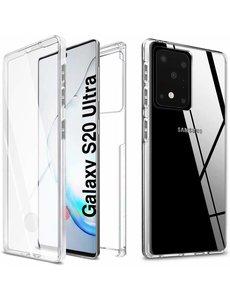 Ntech Samsung Galaxy S20 Ultra Hoesje 360° TPU 2 in 1 Case Transparant