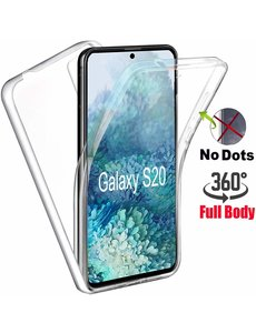 Ntech Samsung Galaxy S20 Hoesje 360° TPU 2 in 1 Case Transparant