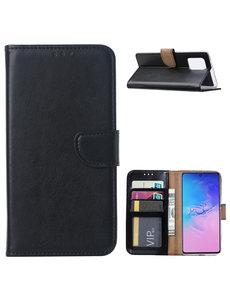 Ntech Samsung Galaxy S10 Lite (2020) Hoesje met Pasjeshouder - Zwart