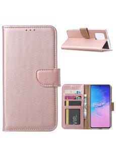 Ntech Samsung Galaxy S10 Lite (2020) Hoesje met Pasjeshouder - Rose goud