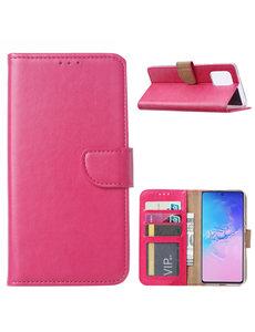 Ntech Samsung Galaxy S10 Lite (2020) Hoesje met Pasjeshouder - Roze