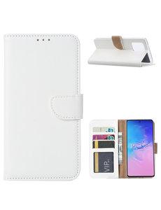 Ntech Samsung Galaxy S10 Lite (2020) Hoesje met Pasjeshouder - Wit