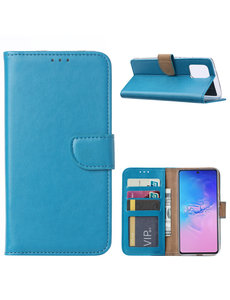 Ntech Samsung Galaxy S10 Lite (2020) Hoesje met Pasjeshouder - Turquoise