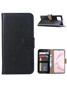 Ntech Samsung Galaxy Note 10 Lite Hoesje met Pasjeshouder - Zwart