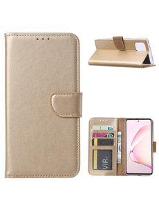 Ntech Samsung Galaxy Note 10 Lite Hoesje met Pasjeshouder - Goud