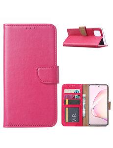 Ntech Samsung Galaxy Note 10 Lite Hoesje met Pasjeshouder - Roze/Pink