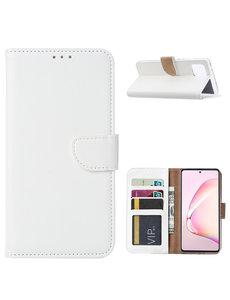 Ntech Samsung Galaxy Note 10 Lite Hoesje met Pasjeshouder - Wit