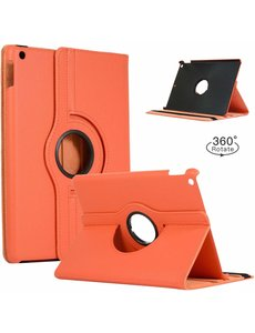Ntech Apple iPad 2019 / 2020 (10.2 inch) Draaibare Hoes met stylus pen - Oranje