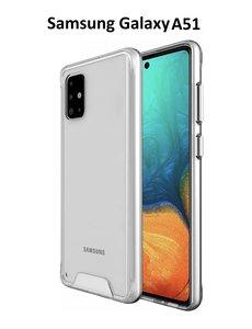 Ntech Samsung Galaxy A51 Hoesje Space Hard TPU backcover- Transparant