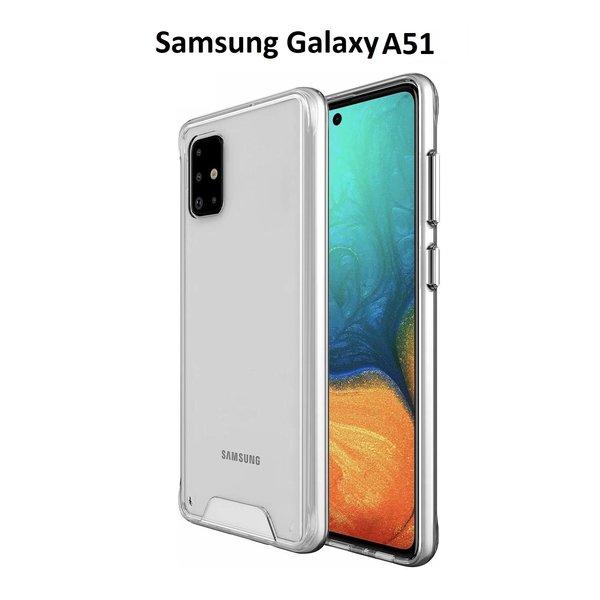 Ntech Samsung Galaxy A51 Hoesje Space Hard TPU Back cover- Transparant