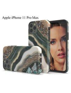 Ntech Apple iPhone 11 Pro Max Marmer Jewel Design backcover Hoesje - Multi kleur