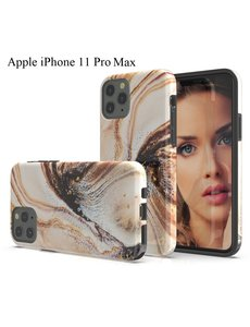 Ntech Apple iPhone 11 Pro Max Marmer Mix Design backcover Hoesje - Multi kleur