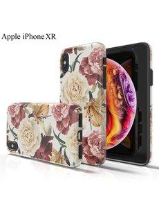 Ntech Apple iPhone XR Bloemen Design backcover Hoesje - Multi kleur