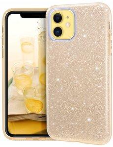 Ntech Ntech Apple iPhone 11 Glitter TPU Back Hoesje - Goud