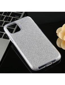 Ntech Samsung Galaxy S20 Plus Glitter Hoes Zilver