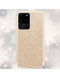 Ntech Samsung Galaxy S20 Plus Glitter Hoes Goud