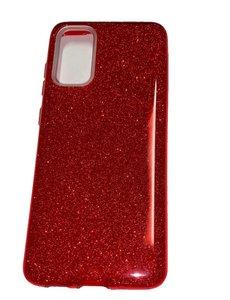 Ntech Samsung Galaxy S20 Glitter Hoes Rood