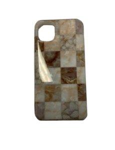 Ntech Apple iPhone 11 Marmer Hoes Bruin