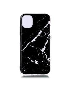 Ntech Apple iPhone 11 Marmer Hoesje Zwart