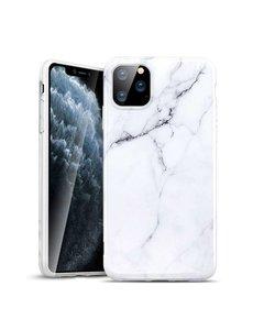 Ntech Apple iPhone 11 Marmer Hoesje Wit